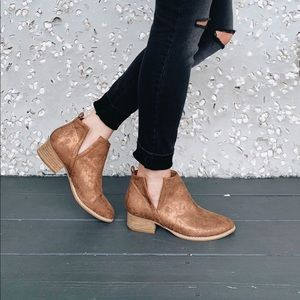 Shoes - Shimmery Copper Boots